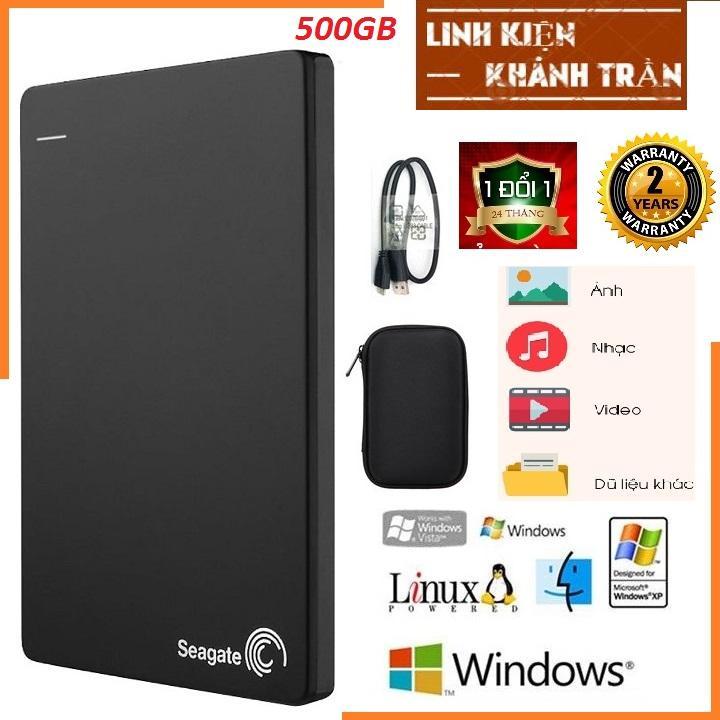 Ổ Cứng Di Động Seagate Backup Plus Slim 500GB- BẢO HÀNH 24 THÁNG - tặng túi chống sốc