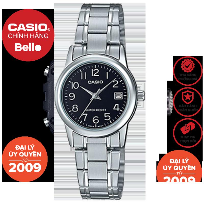 Đồng hồ Nữ dây thép Casio LTP-V002D bảo hành chính hãng 1 năm Pin trọn đời