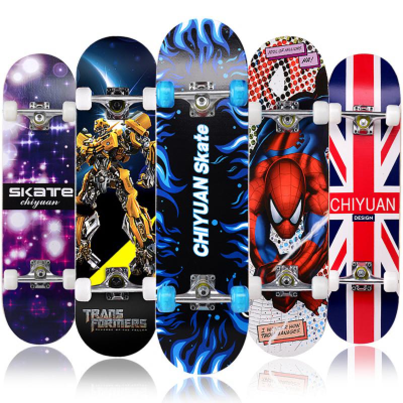Mua [ DỌN KHO NGHỈ DỊCH ] Ván Trượt Skateboard Thể Thao Chất Liệu Gỗ Phong Ép Cao Cấp-Ván Trượt Đạt Chuẩn Thi Đấu Giao Màu Ngẫu Nhiên-Ván Trượt Thể Thao Cỡ Lớn, Ván Trượt Mang Phong Cách Đường Phố