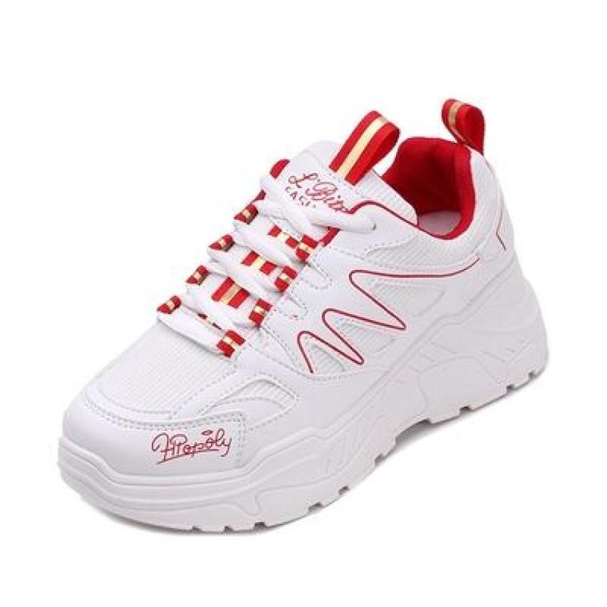 Giày thể thao nữ viền sóng - giày nữ sneaker giầy bata trắng đen đỏ độn đế đi học thời trang ullzang hàn quốc đẹp giá rẻ hot 2020 giá rẻ