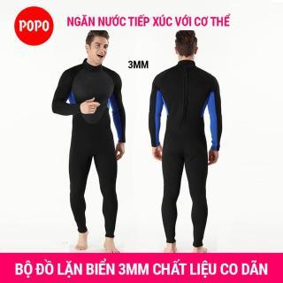 Bộ đồ lặn, quần áo lặn biển cho NAM 3mm giữ ấm, thoáng khí, chống thầm nước cao cấp POPO Collection thumbnail