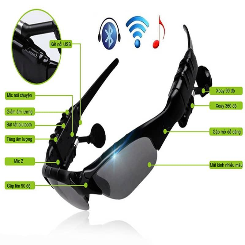 Giá Kính Râm Thời Trang Tích Hợp Tính Năng Hiện Đại  -  Mắt kính Bluetooth 4.1 SIÊU thông minh - mk4.1- Kính Râm Nghe Nhạc – Hàng HOT – Siêu Độc