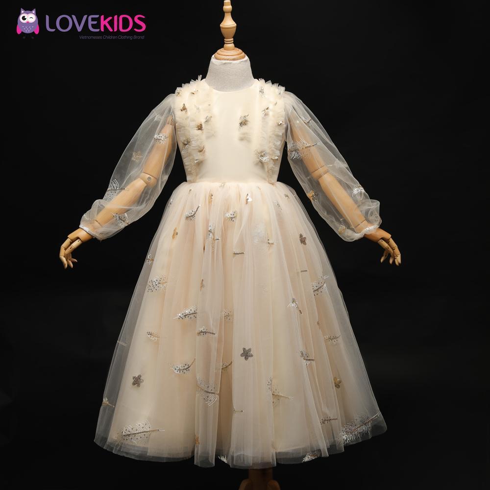 Giá bán Váy công chúa BG dài tay đính kim sa - Lovekids