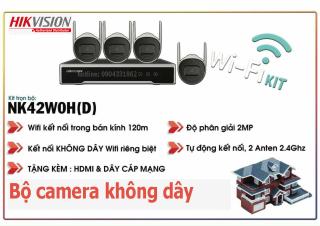 [Trả góp 0%]Bộ camera không dây chính hãng hikvision độ phân giải full HD 2.0Mp chống nước . tự động kết nối cắm là chạy dễ dang lắp đặt và sử dụng ( không bao hồm ổ cứng ) thumbnail