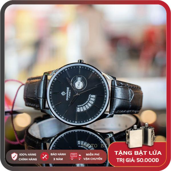 Đồng Hồ Nam Sunrise 1127SA [Full box],kính Sapphire chống xước, chống nước, dây da cao cấp, bảo hành 3 năm.