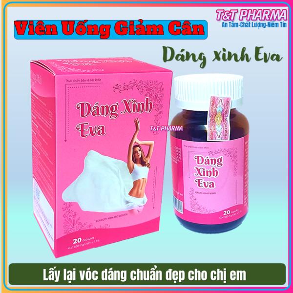 Viên Uống Giảm Cân Dáng Xinh EVa- Với thành phần collagen, cao lá sen, ca trà xanh giúp Giảm cân, giảm mỡ thừa nhanh chóng- collagen hỗ trợ đẹp da, làm mờ nám, tàn nhang- hộp 20 viên