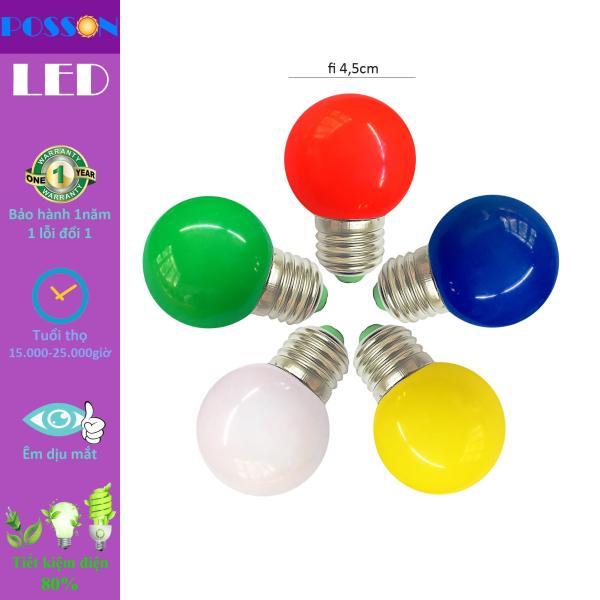 10 Bóng đèn Led quả trái chanh trang trí ngoài trời 1w G45 đuôi E27 màu sắc LL-RGBYW. Kiểu tròn chống nước phần thân bóng đèn IP65, cho khả năng sử dụng ngoài trời