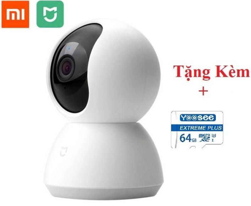 [ TẶNG THẺ NHỚ YOOSEE 64G ] Camera wifi giám sát Xiaomi Mi Home Security 360° 1080P + Tặng củ sạc