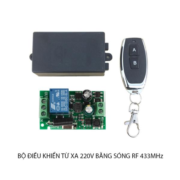 Bộ công tắc điều khiển từ xa (remote) 220V-10A sóng RF 433Mhz có thể điều khiển xuyên tường