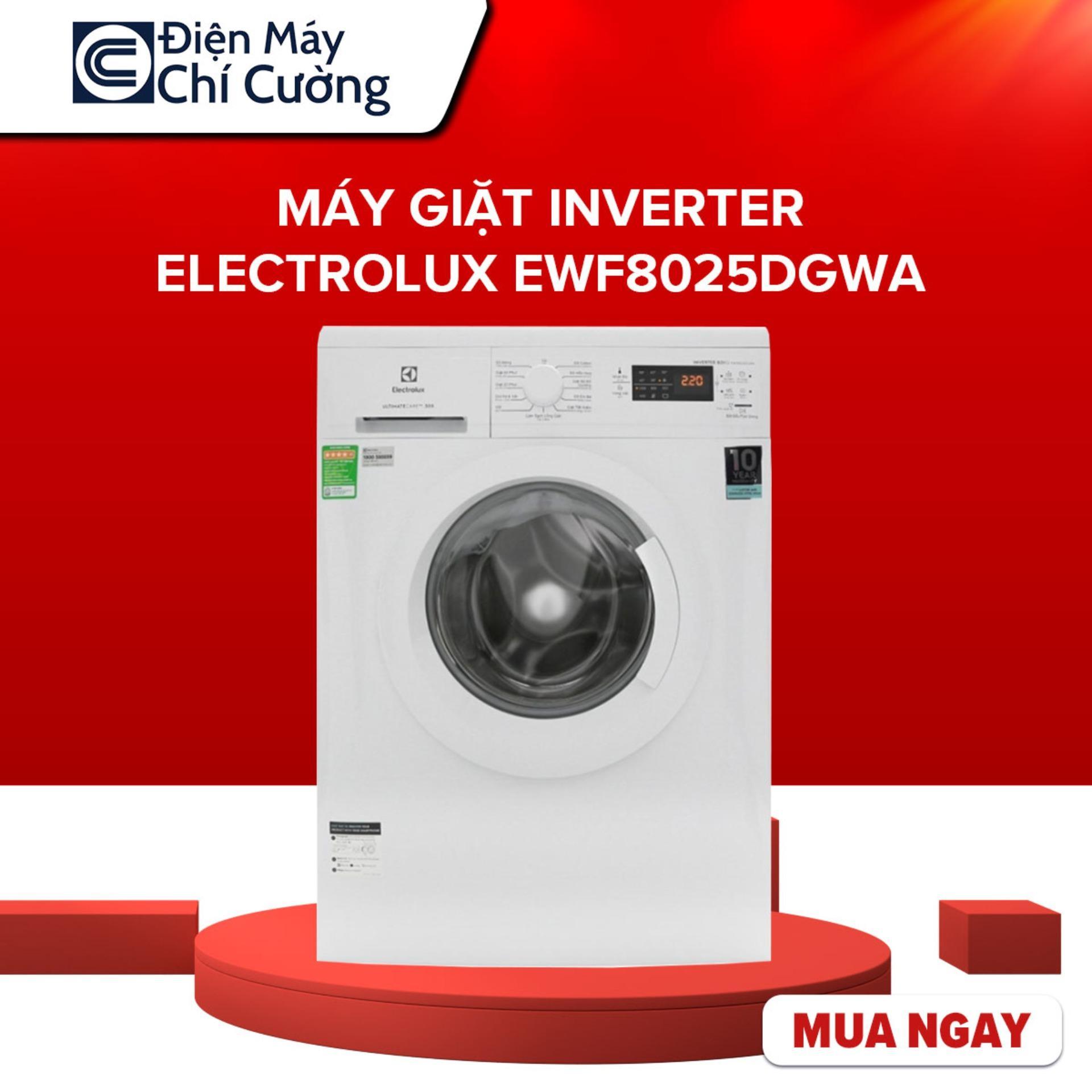 Máy Giặt Inverter Electrolux EWF8025DGWA 8kg, Tốc độ Quay Vắt 1200 Vòng/phút, Lồng Giặt HIVE Hình Tổ Ong, Bảo Hành 2 Năm Giá Cực Cool