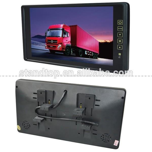 Màn hình LCD ốp Gương Ô tô HD 9 inch dùng được DC 12 - 24 V