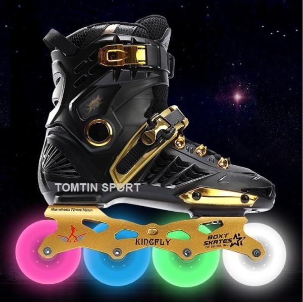 Giá bán Giày trượt patin người lớn size từ 38-44 với 8 bánh phát sáng Weiqui Kingfly phù hợp với nam và nữ [TOMTIN SPORT]