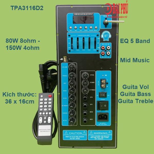Bảng giá Mạch loa kéo TPA3116D2 chuyên dụng cho Karaoke và Guitar điện 80W – 150W