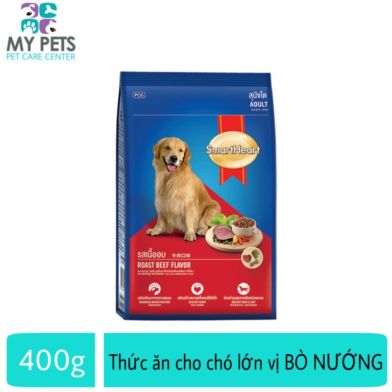 Thức ăn cho chó trưởng thành vị bò nướng - Smartheart Adult gói 400g