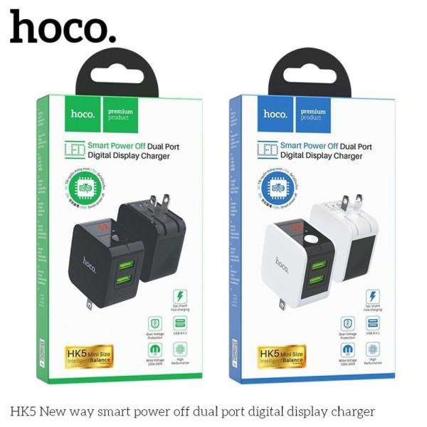 Cốc sạc tự ngắt Hoco HK5 (Chính hãng - BH 1 năm)