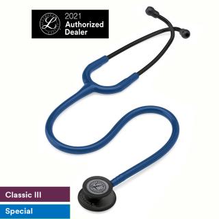 Ống nghe 3M Littmann Classic III, Màu xanh Navy, Chestpiece đen 27 inch, 5867 thumbnail