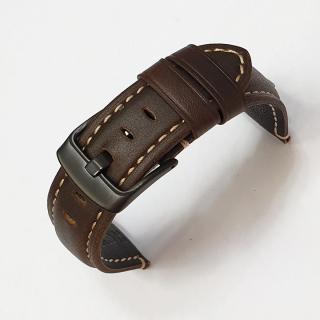 Dây da đồng hồ nam, dây da smart watch dây da bò thật mềm lớp lót không thấm hút mồ hôi - D2007 thumbnail