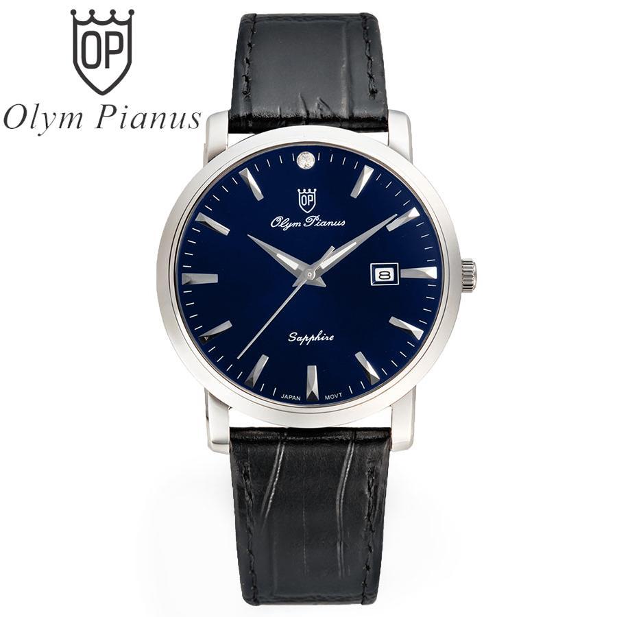 Đồng hồ nam dây da Olym Pianus OP130-06MS-GL xanh bán chạy