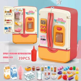 39 Cái Tủ lạnh Trẻ em Đồ chơi Trẻ em Mô phỏng Tủ lạnh Đồ chơi Nhà bếp Giả vờ Chơi Bộ Đồ chơi Trẻ em Chơi Nhà Cô gái Đồ chơi Quà tặng thumbnail