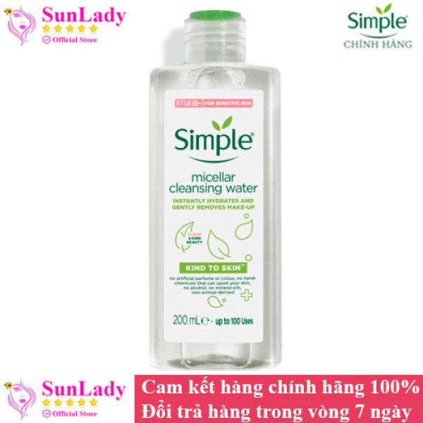 Nước Tẩy Trang Dịu Nhẹ Simple Kind To Skin Micellar Water 200ml chính hãng nhập khẩu