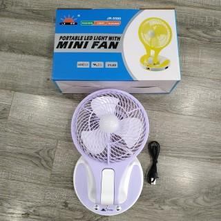 Quạt sạc mini đèn Led 2 chế độ sáng JR5580 - Giao màu ngẫu nhiên thumbnail