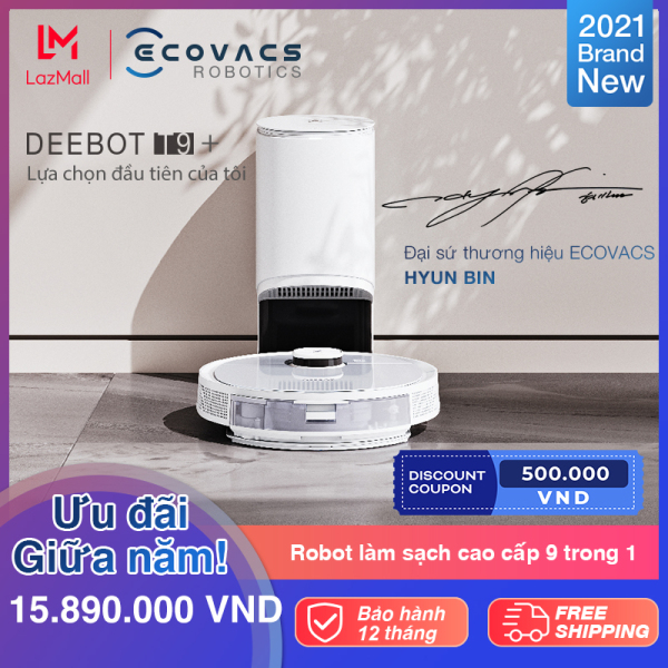 [Trả góp 0%][NEW] ROBOT hút bụi lau nhà ECOVACS DEEBOT T9 Plus - Lực hút Max 3000Pa - Bản Quốc tế