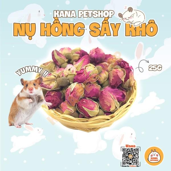Bông Hồng Sấy Khô 🐹FREESHIP🐹 𝟮𝟬 𝗚𝗿𝗮𝗺 Nụ Hồng Sấy Khô Nguyên Bông Cho Thỏ, Bọ, Hamster