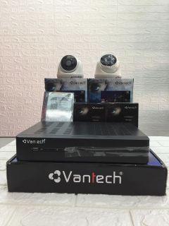 Trọn bộ Camera Vantech 1 đầu ghi 464TVI +2 camera 1300F +2 nguồn 12v+1 ổ cứng 1T thumbnail