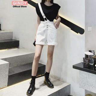 Yếm quần GINDY dáng baggy chất vải kaki dây chéo thời trang năng động Q20048 Q20009 thumbnail