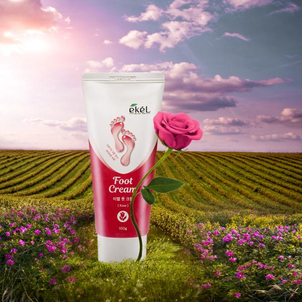 Kem dưỡng da chân hoa hồng Ekel - Ekel Foot Cream Rose