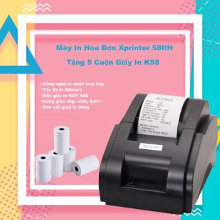 Máy In Hóa Đơn Xprinter 58IIH Tặng Kèm 5 Cuộn Giấy In K58 (CỔNG USB chỉ dùng cho Máy tính) thumbnail