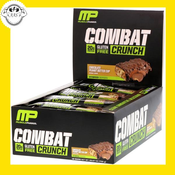 PROTEIN BAR - MUSCLEPHARM - COMBAT CRUNCH - 12 BAR