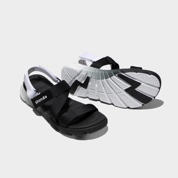 [Ảnh thật] Sandals F6 Sport ombre đế 2 màu đen trắng F6S0110 mẫu mới nhất giá rẻ