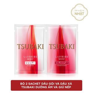 Bộ 2 Sachet dầu gội xả Tsubaki dưỡng ẩm và giữ nếp dầu gội + dầu xả (12mlx2) thumbnail