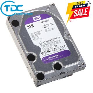 [FLASALE] Ổ cứng HDD WD TÍM 3TB chuyên dụng cho đầu ghi hình camera hoặc máy tính PC thumbnail