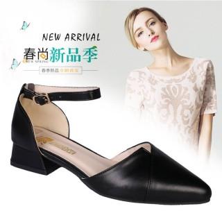 Giày nữ thời trang xếp mũi 3 phân, A34 thumbnail