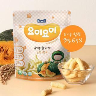 Bánh gạo ăn dặm hữu cơ Yummy Yummy Maeil vị bí ngô cho bé từ 7 tháng tuổi gói 25g - Bánh ăn dặm Hàn Quốc cho bé 100% nguyên liệu hữu cơ - VTP mẹ và bé TXTP042 thumbnail