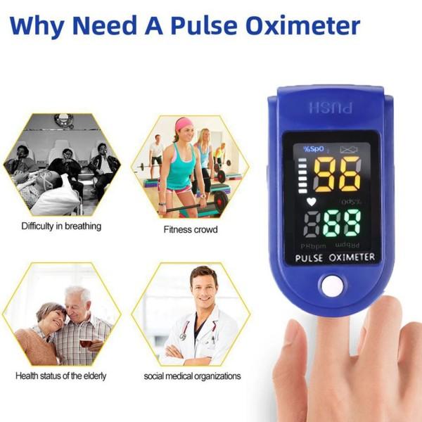Nơi bán [HCM]Máy đo ôxy màn hình bốn màu / Máy đo ôxy theo nhịp tim ở ngón tay / đo nồng độ ôxy trong máu