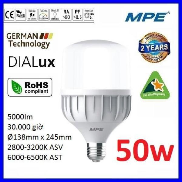 Bảng giá Bóng led bulb 50W cao cấp MPE LBD-50 ( tiêu chuẩn Châu Âu ) - Điện Việt