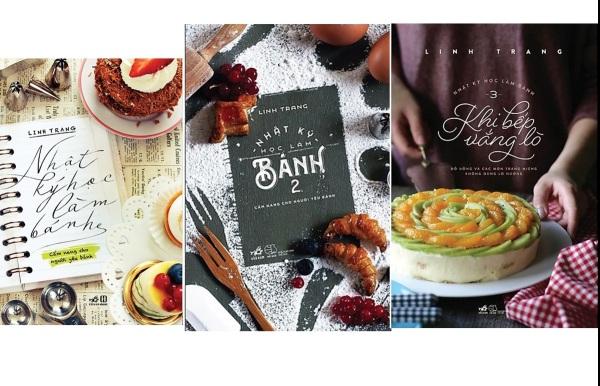 Sách Dạy Nữ Công Gia Chánh - Nhật Ký Học Làm Bánh - Bộ 3 Cuốn - In Màu, Có Hình Minh Họa