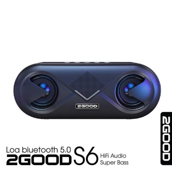 Loa Bluetooth 5.0 2Good S6 ( Thời lượng pin trâu, công suất lớn, đèn Led nháy theo nhạc, bảo hành 12 tháng)