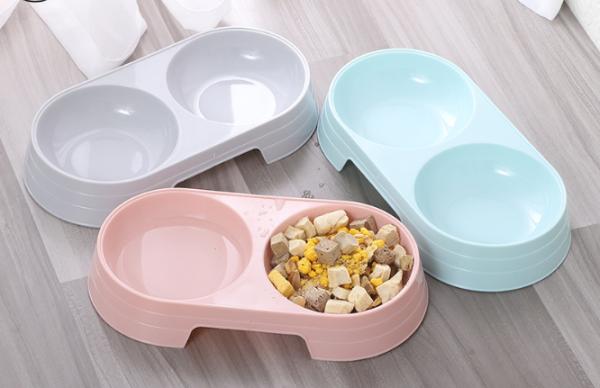 Bát ăn đôi cho chó, mèo (chất liệu nhựa)