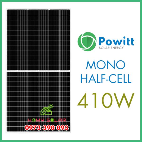 Tấm pin năng lượng mặt trời Mono half cell 410W Powitt
