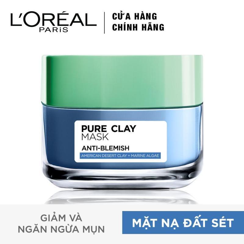 Mặt nạ đất sét ngăn ngừa và giảm mụn LOreal Paris Pure Clay Mask Anti-Blemish 50g