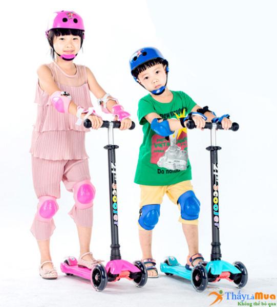 Mua Xe trượt 3 bánh cho bé - Xe trượt scooter SC-21ST - Xe giữ thăng bằng thông minh - Mẫu mới nhất mùa Hè - Phù hợp cho các bé từ 3-8 tuổi - Giúp bé tập phản ứng tốt - Linh hoạt - bảo hành 1 đổi 1 tại BeNganShop