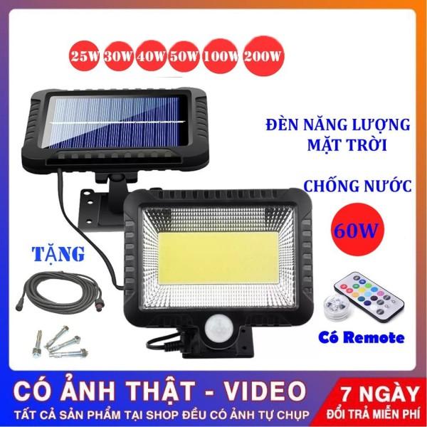 Bảng giá Đèn năng lượng mặt trời solar light mini giá rẻ có điều khiển dùng trong nhà và sân vườn, cảm biến chuyển động 100LED COB