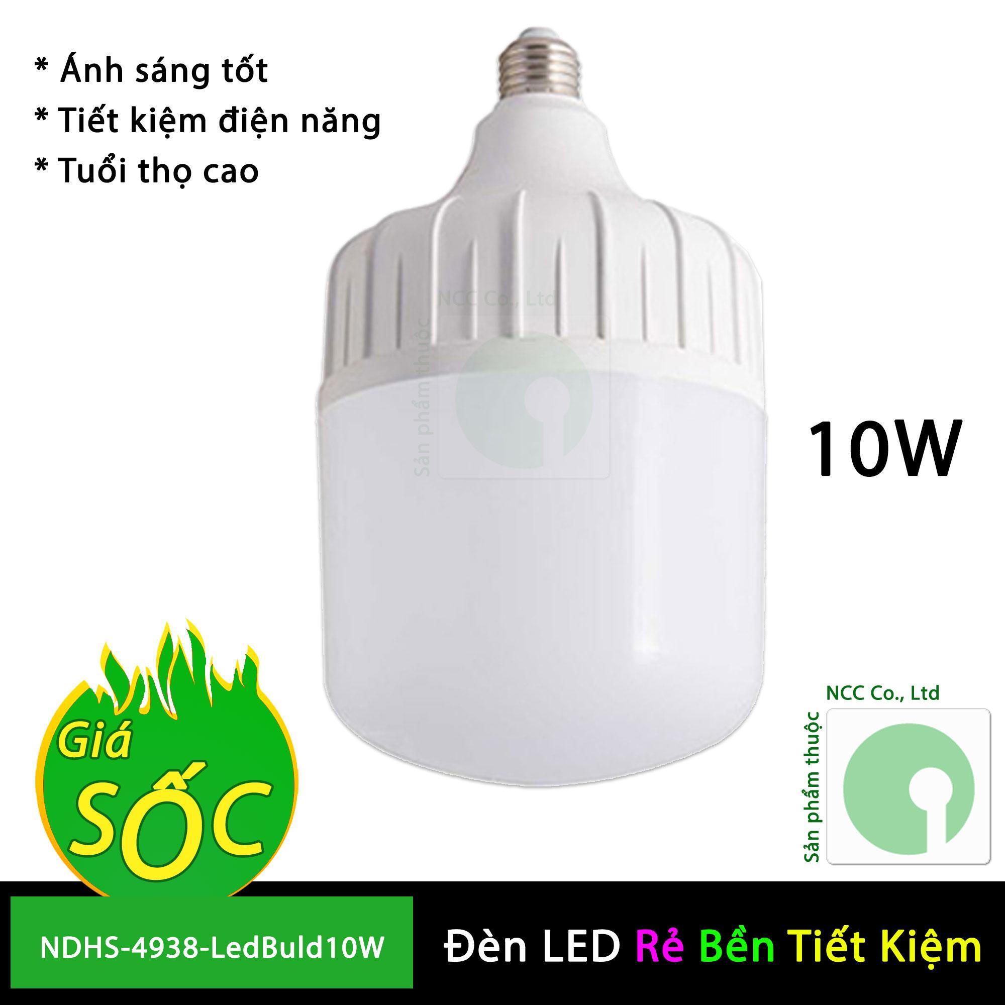 Bóng đèn Led Buld 40W - Led trụ tiết kiệm điện dành cho gia đình và công trình - NDHS-4389-LedBuld40W (Trắng)