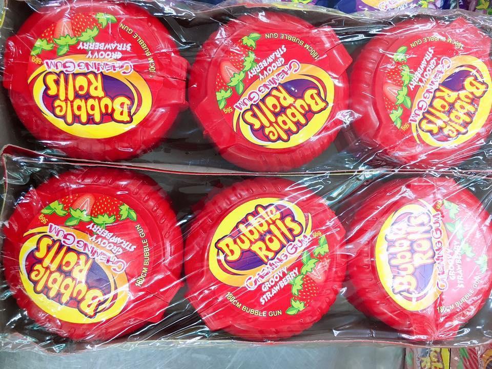 Kẹo cao su HUBBA HUBB dạng cuộn 180cm - Hàng Thái lan