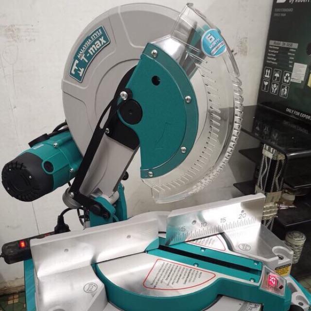 MÁY CẮT NHÔM TMAX công suất 1850W Moter 100% đồng đường kính lưỡi 255MM Góc nghiên 45 độ Máy chưa bao gồm lưỡi cắt