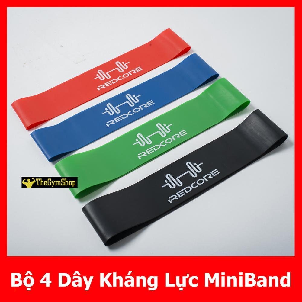 [Tặng Kèm Túi Đựng] Bộ 4 Dây Kháng Lực Mini Band, Dây Cao Su Miniband, Dây Tập Gym, Dây Kháng Lực, Dây MiniBand, Minibands, Mini Bands, Dây Miniband